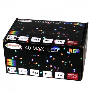 40 LED diožu virtene 4m RGB