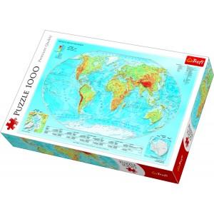 """Trefl Puzle """"Pasaules karte"""", 1000 gab."""