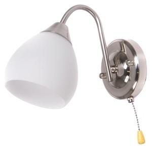 Sienas lampa-MERIDA 40W E27 mat.niķelis