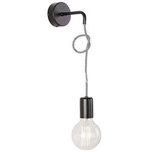 Sienas lampa-SIMPLE 60W E27 melna
