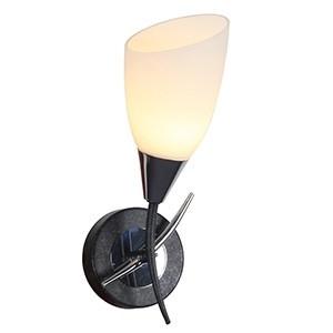 Sienas lampa-TIRILLO 40W E14 melna/hroma