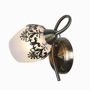 Sienas lampa-ROMANTIKA 40W E14 misiņa