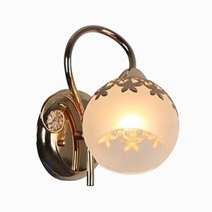 Sienas lampa-ROMANTIKA 40W E14 zelta