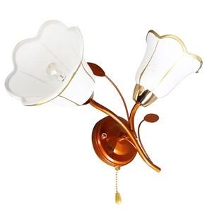 Sienas lampa-NADINA 2x40W E14 zelta