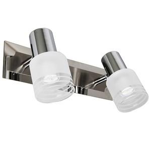 Spotlampa -LEA 2x3W LED E14 mat.niķeļa/hroma