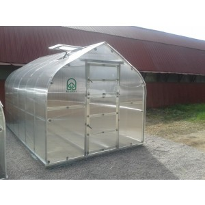 Pagarinājums KLASIKA STANDART, 2m ar 6mm polikarbonātu, bez priekšējām un aizmugurējām sienām