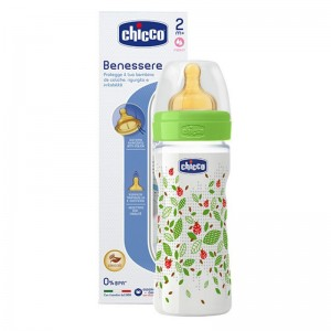 CHICCO WELL BEING Pudelīte 250ml (zaļa)