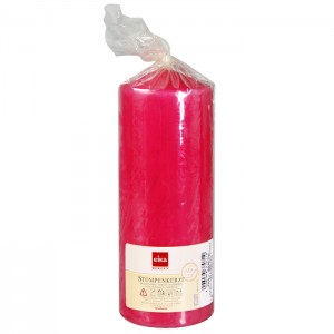 Svece cilindrs 16x6cm fuksijas kr.