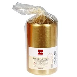 Svece cilindrs Eika 11x6cm zelta