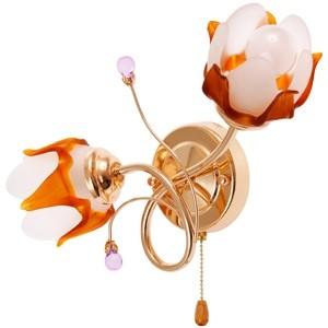 Sienas lampa-2x40W E14 zelta