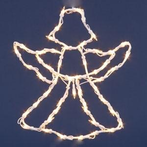 50 spuldzīšu dekors eņģelis 42x37cm caursp