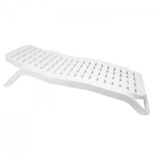 Sauļošanās gulta Scirocco 187x71.4x44.5cm balta