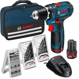 Akumulatora skrūvgriezis Bosch GSR 10.8-2-Li 2x2Ah+39 pieder.