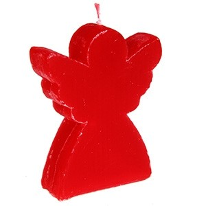 Svece Eņģelis 8.5x10cm sarkana