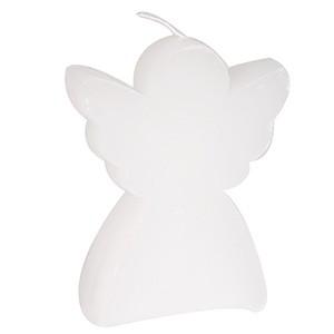 Svece Eņģelis 8.5x10cm balta