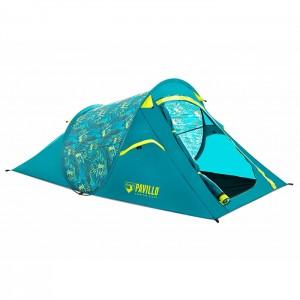 Telts Telts 220x120x90cm zaļa/dzeltena