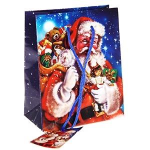 Dāvanu maisiņš Santa Claus 11x6x13,5cm