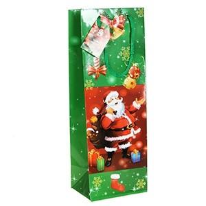 Dāvanu maisiņš Santa Claus 12x10x35cm