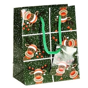 Dāvanu maisiņš Ziemassvētku 11x6x13.5cm