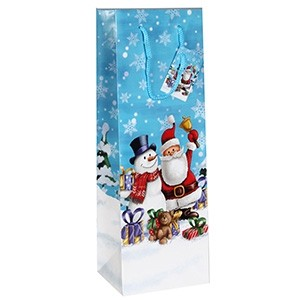 Dāvanu maisiņš Ziemassvētku 12x10x35cm