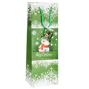 Dāvanu maisiņš Sniegavīrs 12x10x35cm