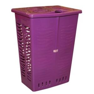 Veļas grozs 42L Zebra violets
