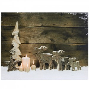 Glezna ar LED 30x40cm Moose