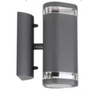 Āra apgaismojuma lampa sienas 2x35W GU10 IP44 pelēka