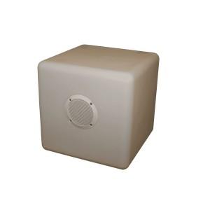 LED Gaismas Kubs, 35x35x35cm, Daudzfunkcionāls ar skandu, bluetooth savienojumu, uzlāde ar USB.