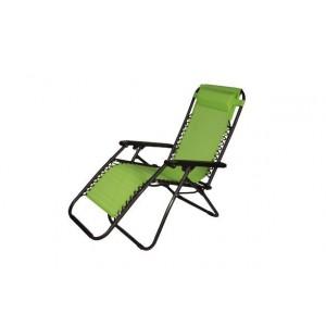 Guļamkrēsls, zaļš, 168x65x108cm