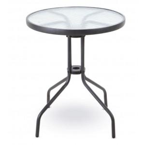 Metāla galds ar stikla virsmu d60x70cm