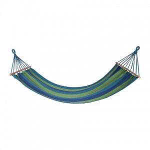 Auduma šūpuļtīkls zils, zaļš 200x80cm