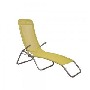 Sauļošanās krēsls, dzeltens 58x135x70cm