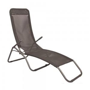 Sauļošanās krēsls, melns 58x135x70cm