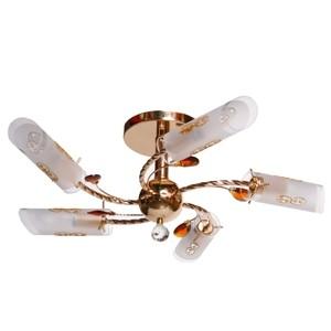 Griestu lampa-5x40W E14 zelta