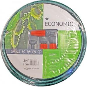 Laistīšanas šļūtene 3/4 Economic ar spraušļu kompl