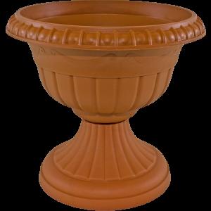Puķu pods uz kājas Roma 4 terakota