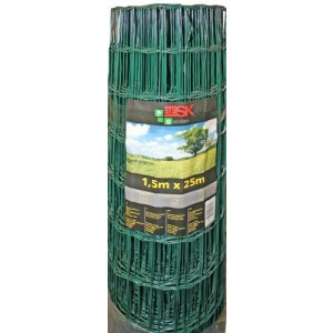Žogs cinkots ar PVC 1.5mx25m (100x100)