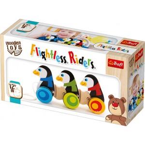 TREFL WOODEN TOYS Braucošie pingvīni