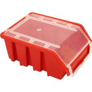 Kaste Ergobox 2 Plus ar vaku sarkana