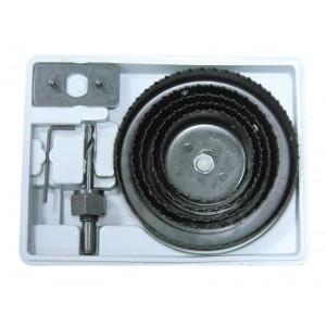 Kroņurbju kompl. kastē 64-76-89-102-127mm