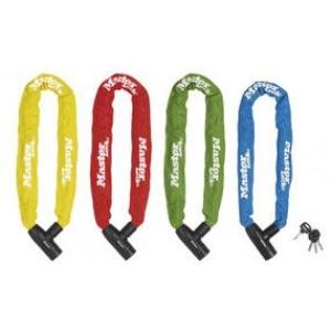 Velo ķēde ar atslēgu - krāsaina 8mm x 90 cm