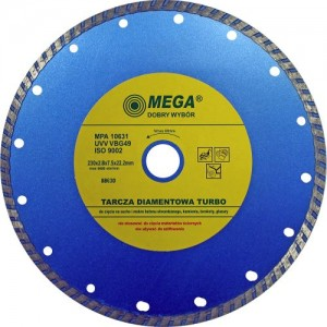 Dimanta disks BTR 230x22mm turbo Mega