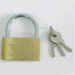 Piekaramā slēdzene misiņa SLIM 63mm 3 atslēgas