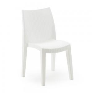 Krēsls plastmasas Lady balts