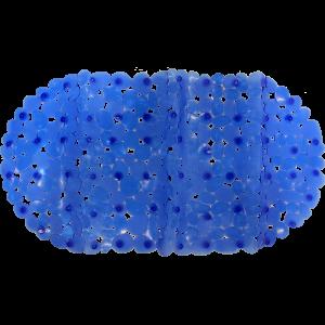 Vannas istabas paklājs ar piesūcekņiem 67x34cm zils