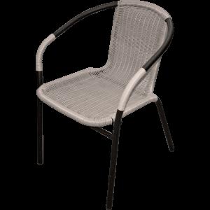 Krēsls pīts metāla 55x56x74 melns
