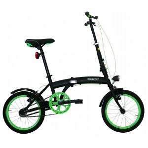 "COPPI saliekamais velosipēds PIEGHEVOLE 16""(melns)"