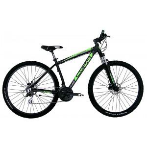 """COPPI MTB kalnu velosipēds SPK-01 29""""(melns, zaļš)"""