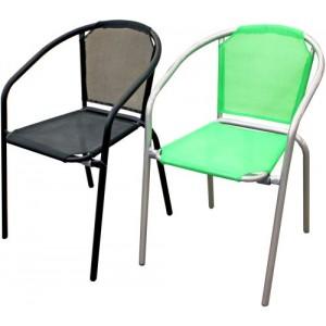 Krēsls metāla ar audumu zaļa krāsa 54x56x73
